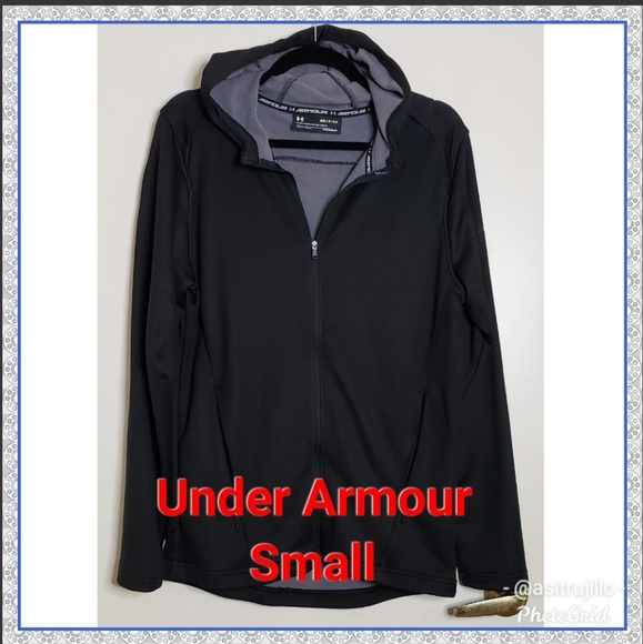Under Armour Other - 🎁🆕️NWT Under Armour Black Hooded Jacket Sz Small